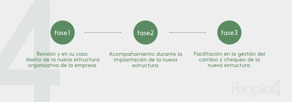 Gráfico Reestructuración organizativa