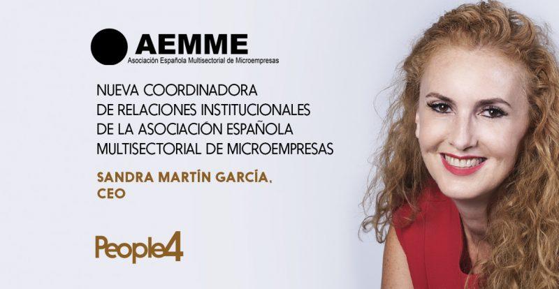 Imagen de la noticia Sandra Martín, nueva coordinadora de Relaciones Institucionales de la Asociación Española Multisectorial de Microempresas.